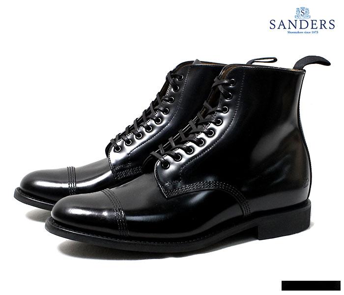 SANDERS サンダース 英国製 ミリタリー ダービーブーツ ブラック MILITARY DERBY BOOT 1595 (1595-BLACK)