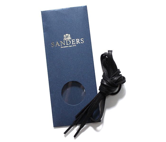 SANDERS サンダース シューレース 短靴用 蝋引き 丸紐 平紐 ワックスド 80cm WAXED SHOELACE (SANDERS-SHOELACE)