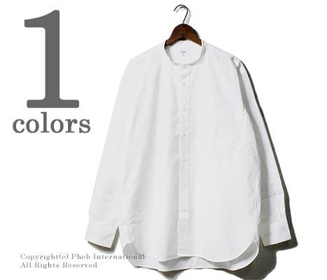 [送料無料]サイ/SCYE 日本製 ペルー産タンボマチャイコットン バンドカラーシャツ (1118-31080)