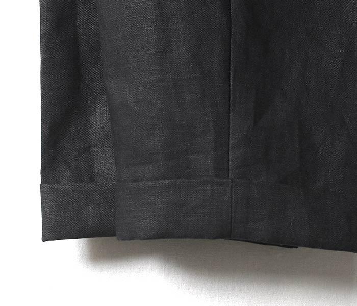 [送料無料]サイ/SCYE 日本製 リネン 2タック テーパードパンツ トラウザーズ (1118-81051)