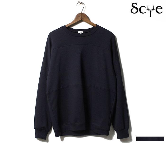 SCYE サイ 日本製 パネル スウェットシャツ ハイゲージストレッチ裏毛 (111-21106)