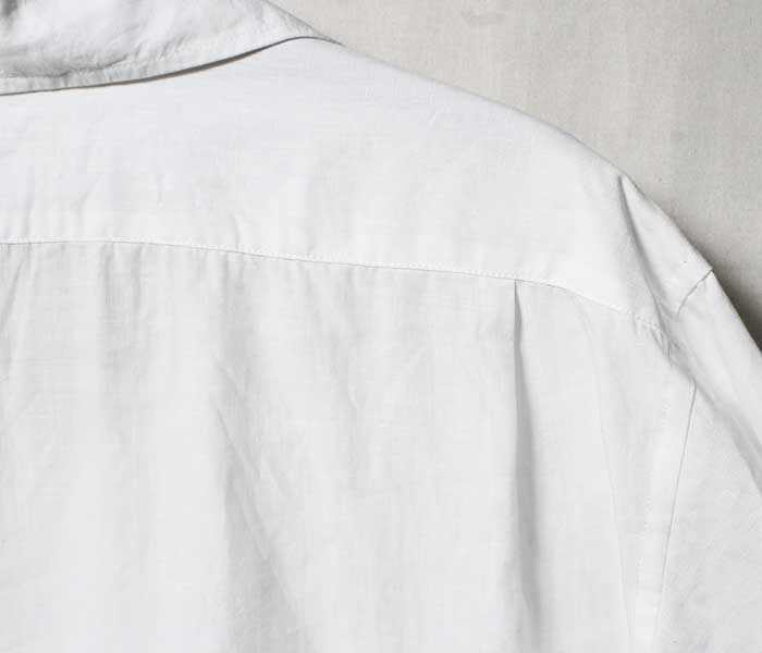 SCYE サイ 日本製 キャンプカラー プルオーバーシャツ オープンカラー 高密度リネン (1119-31025)