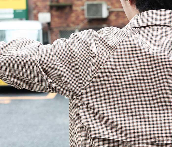 SCYE サイ 日本製 ガンクラブチェック ステンカラー コート バルマカーンコート (1119-71040)