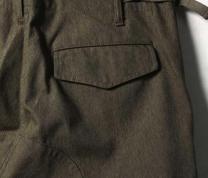 SCYE サイ 日本製 カーゴパンツ フィンクスコットン 撚り杢サージ (1119-81061)