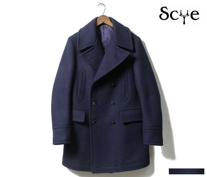 [送料無料]サイベーシックス/SCYE BASICS 日本製 SUPER 120'S メルトン ピーコート Pコート 2018AW (5118-73540-PEACOAT)