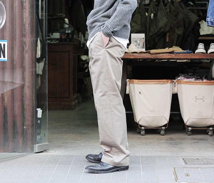 [送料無料]サイベーシックス/SCYE BASICS 日本製 ワイドストレート チノパン サンホアキン綿 ムラ糸オックスフォードバグス (SCYE-OXFORD-BUGGS-CHINO(5118-83512))