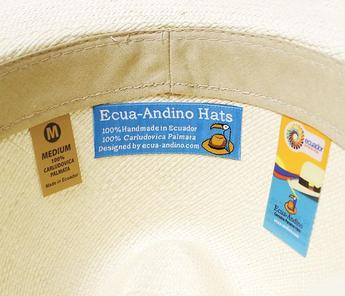 エクアアンディーノ ECUA-ANDINO エクアドル産 クラシックパナマハット ハンドメイド (EA-ClASSIC)