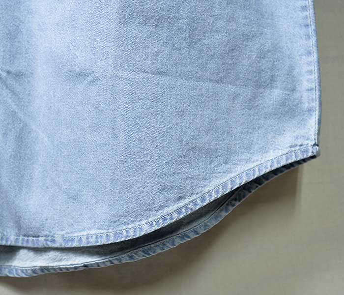 コブラキャップ COBRA CAPS デニム ボタンダウンシャツ 半袖 DENIM WASHEDSHIRT SHORT SLEEVE (COBRA-DEN-L)
