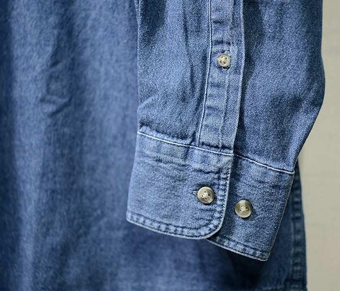 エドワーズガーメント/EDWARDS GARMENT デニム ボタンダウン シャツ ミッドウェイト ロングスリーブシャツ DENIM MIDWEIGHT LONG SLEEVE SHIRT (EG-1093)