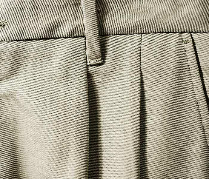 エドワーズ ガーメント EDWARDS GARMENT 2タック パンツ オールコットン プリーツパンツ チノパン MEN'S ALL COTTON PLEATED PANT (EG-2630)
