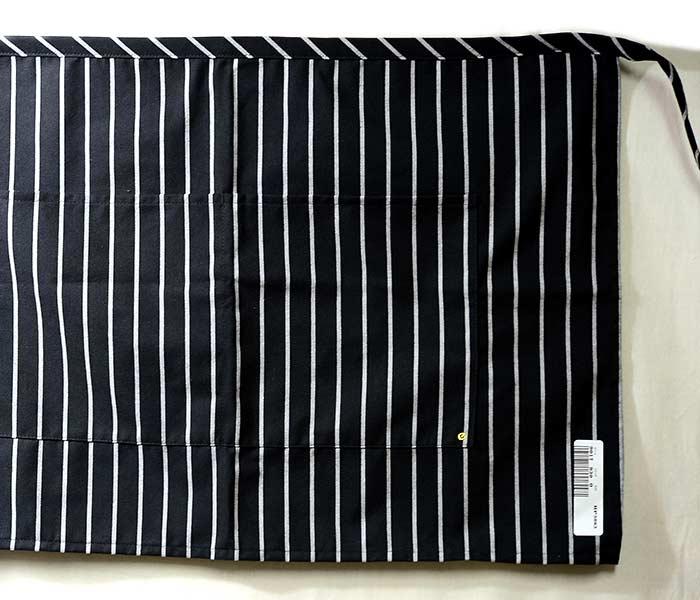 エドワーズ ガーメント EDWARDS GARMENT ストライプ ビストロ エプロン ショート 2-POCKET HALF BISTRO APRON (EG-9017)