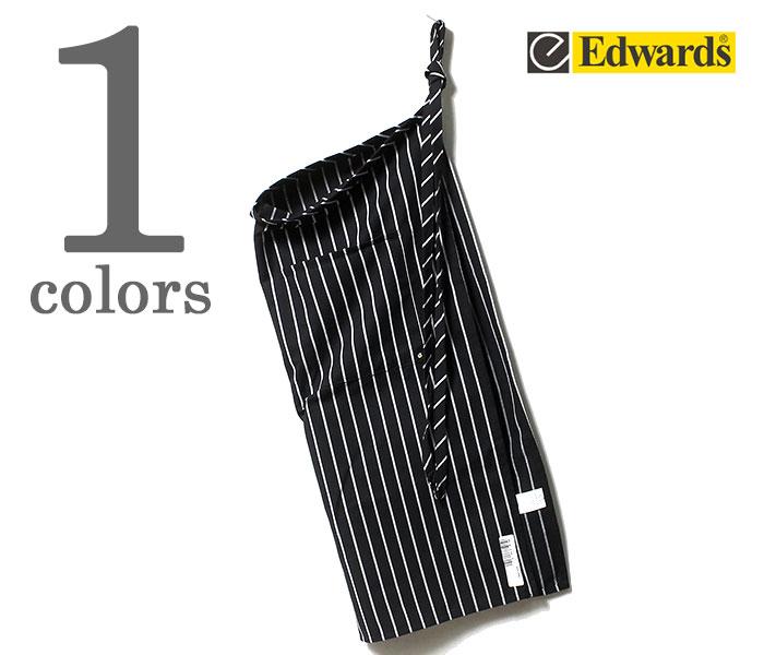 エドワーズ ガーメント EDWARDS GARMENT ストライプ ビブ ロング エプロン 2-POCKET BIB APRON (EG-9019)