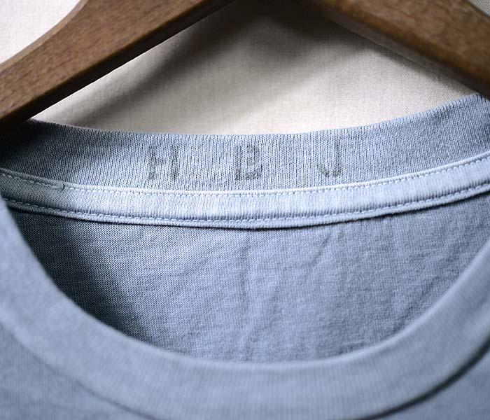 ハイブリュージェイ/HI BLEU J 日本製 HOLLYWOOD プリントTシャツ インディゴ ピグメントダイ (HBJ18-SS-HOLLYWOOD)