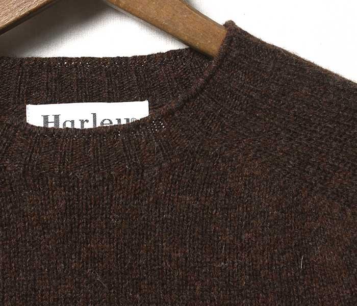 ハーレー オブ スコットランド HARLEY OF SCOTLAND 英国製 ''スーパーソフト'' シェトランド ニット セーター (HARLEY-2474-7-SUPERSOFT-2)