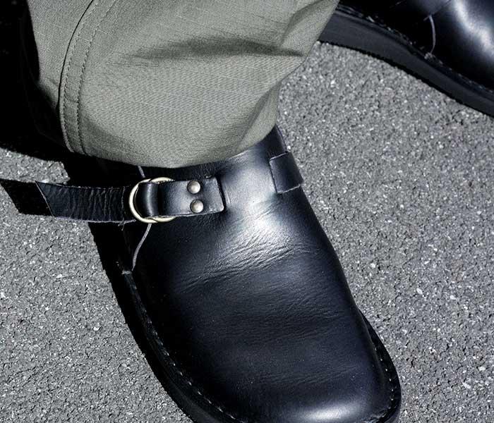 フラカップ FRACAP イタリア製 レザー サボ シューズ ダブルリング コンフォートシューズ ビブラムソール R007 W RING LEATHER SABO SHOES (R007-LEATHER)
