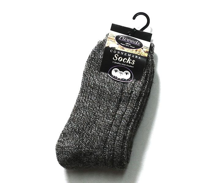 コネマラソックス CONNEMARA SOCKS アイルランド製 ツイード ソックス 靴下 TWEED WOOL SOCKS (TWEEDS-CONNEMARA)