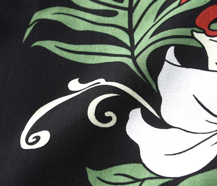 トゥーパームス TWO PALMS アロハシャツ レーヨン ハワイアンシャツ RAYON ALOHA SHIRTS MADE IN USA (TWOPALMS-BLACK-PANEL)