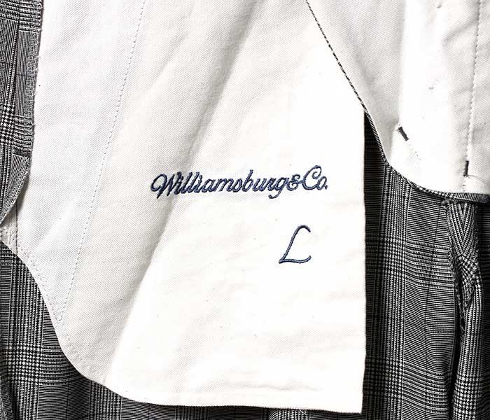 ウィリアムズバーグ&コー Williamsburg & Co. ダンボ テーパード トラウザーズ グレーグレンチェック パンツ DUMBO TAPERED TROUSERS GLENCHECK UK DEADSTOCK MADE IN JAPAN (WB192101-DUMBO-GREY)
