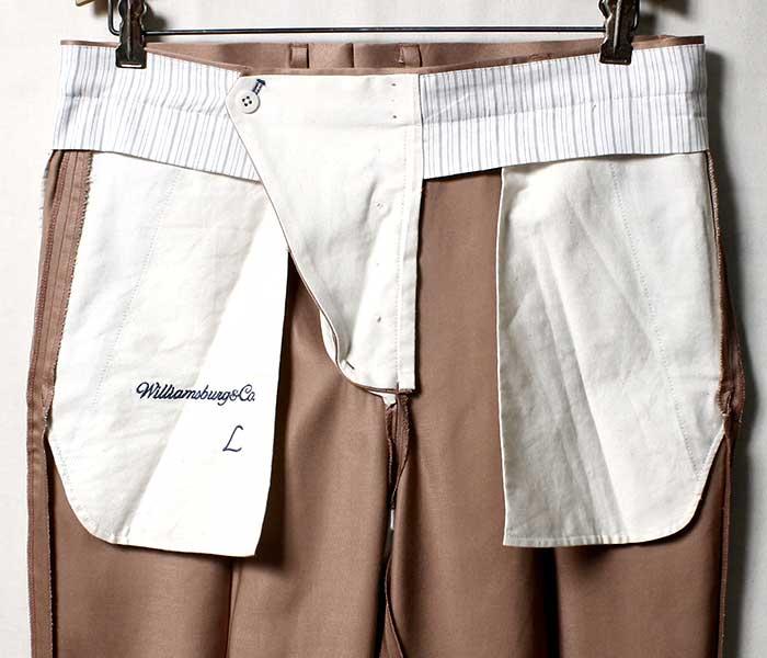 ウィリアムズバーグ&コー Williamsburg & Co. ダンボ テーパード トラウザーズ カメオ パンツ DUMBO TAPERED TROUSERS CAMEO MADE IN JAPAN (WB192103-DUMBO-CAMEO)