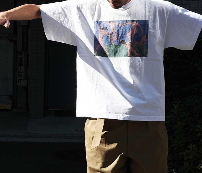 テイスティア TASTIER × アンドフェブ and Pheb アメリカ製 別注 ''ダンス'' プリントTシャツ ショート丈ボディ 両面プリント マティス (TSTR-DANCE-SHORT-SSTEE)