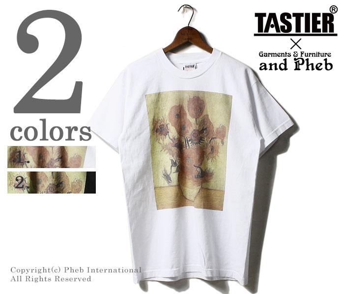 テイスティア/TASTIER × アンドフェブ/and Pheb アメリカ製 別注 ''ビードロ'' プリントTシャツ 浮世絵 ベイサイドボディ (TSTR-BIDORO-SSTEE)