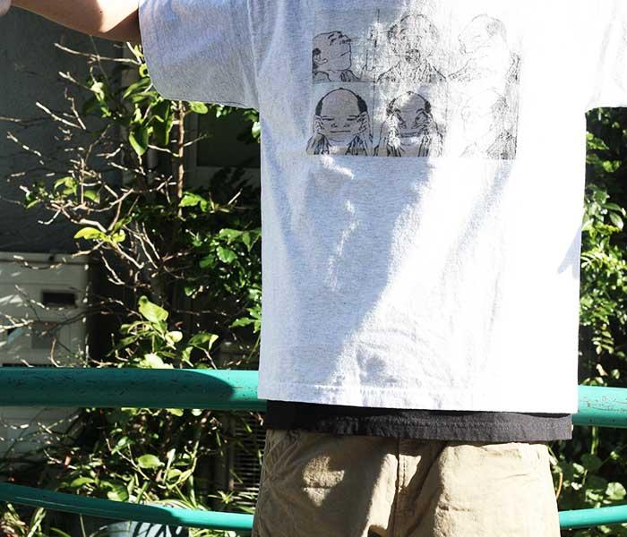 テイスティア TASTIER × アンドフェブ and Pheb アメリカ製 別注 北斎漫画 プリント Tシャツ ショート丈ボディ 葛飾北斎 (TSTR-HOKUSAI-SHORT-SSTEE)
