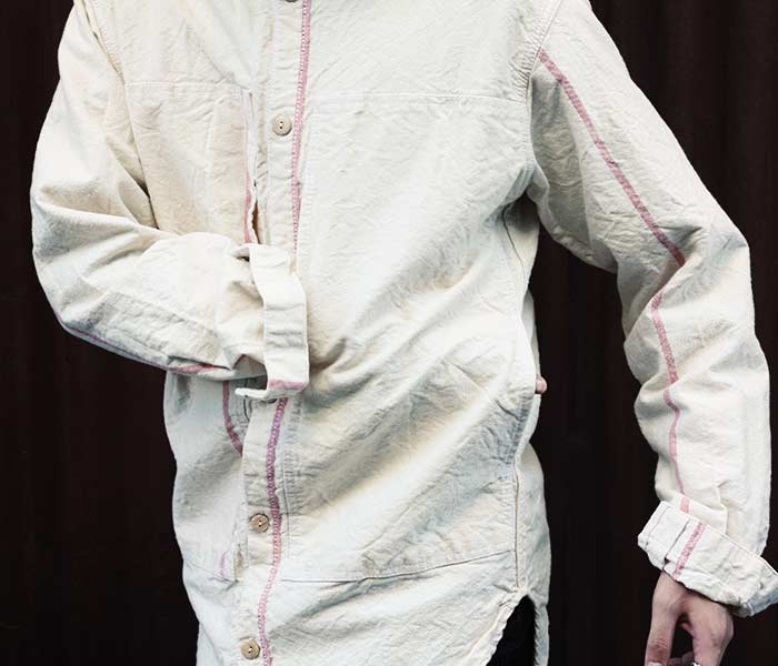 テンダー TENDER Co. 英国製 SUMP CLOTH RINSE WASH ペリスコープポケット テイル シャツ 2018AW TYPE 427 PERISCOPE POCKET TAIL SHIRT (427-PERISCOPE-SH-SUMP-RINSE)