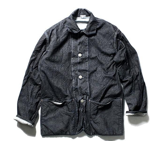 テンダー TENDER Co. 英国製 19oz デニム ジャケット ワンウォッシュ エリ付き TYPE 935 Collared Shepherd's Coat 19oz Cross Weave Denim Rinsed Wash (935-SHEPHERD-19OZ-DNM-RINSE)