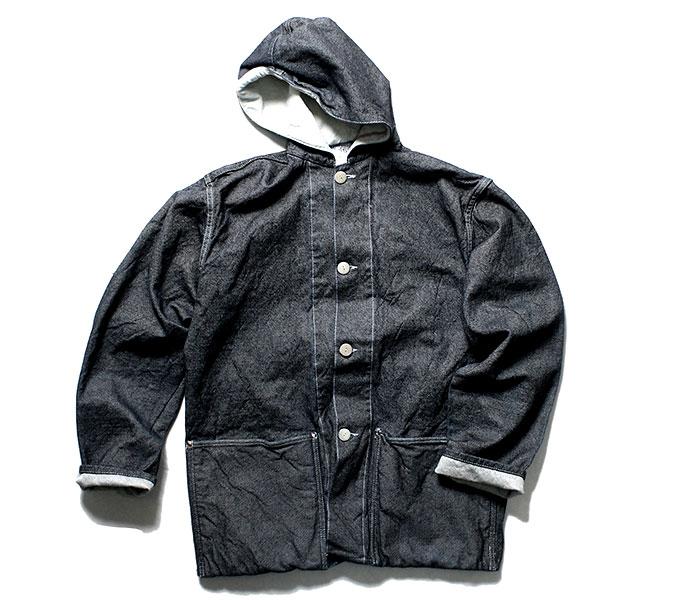 テンダー TENDER Co. 英国製 19oz デニム フーデッドジャケット ワンウォッシュ パーカー TYPE 936 Hooded Shepherd's Coat (936-HOOD-19OZ-DNM-RINSE)