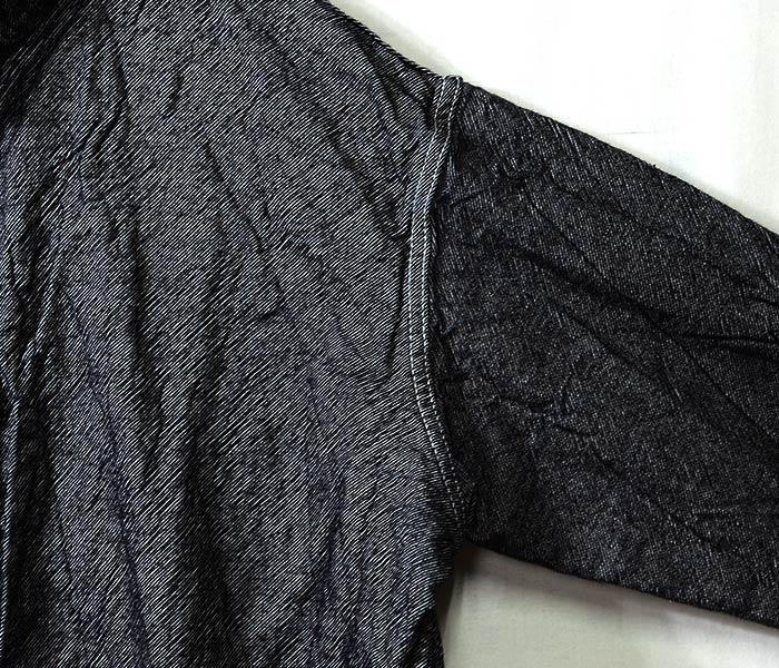 [送料無料]テンダー/TENDER Co. 英国製 ''RINSE WASH INDIGO WEFT LIGHTWEIGHT DENIM'' テッセラクトシャツ TYPE 483 TESSERACT SHIRT LONG SLEEVE (483-LS-TESSERACT-SH-DNM)
