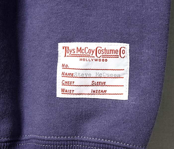 [送料無料]トイズマッコイ/TOYS McCOY 日本製 ''カットオフ'' マックイーンスウェット (TMC1458)