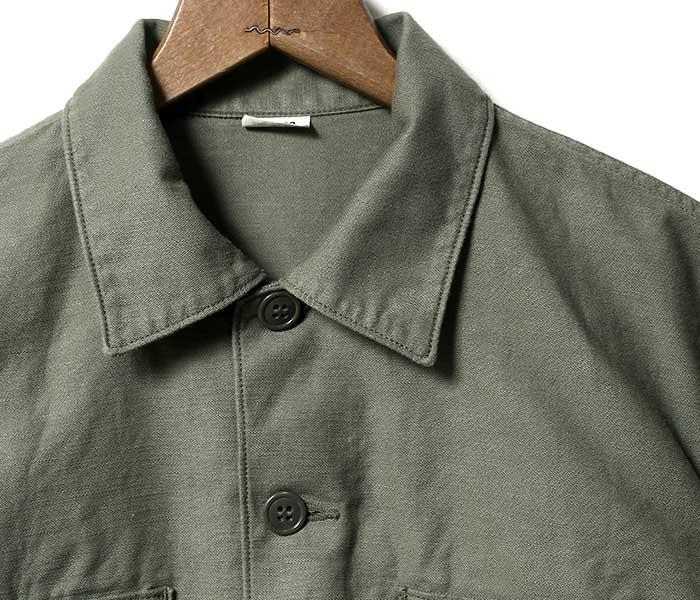 トイズマッコイ TOYS McCOY ユーティリティ シャツ ミリタリーシャツ SHIRT MAN'S COTTON SATEEN OG-107 MADE IN JAPAN (TMS1709)