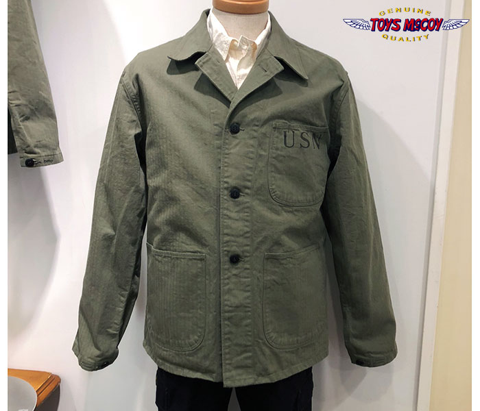 トイズマッコイ TOYS McCOY 日本製 U.S.NAVY N-3 ユーティリティジャケット ヘリンボーン N-3 HBT UTILITY JACKET (TMJ1907)