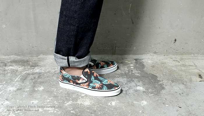 f43bc30814 Pheb International  VANS    vintage Aloha pattern    slip-on sneaker ...