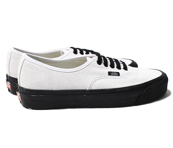 VANS バンズ 限定モデル ANAHEIM FACTORY COLLECTION ''OG WHITE/SUEDE'' オーセンティック UA AUTHENTIC 44 DX ホワイト スウェード ブラックソール (VN0A38ENUL4-WHT)