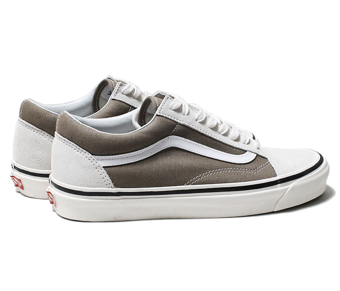 VANS バンズ 限定モデル ANAHEIM FACTORY COLLECTION OLD SKOOL 36 DX WHITE/BIRCH オールドスクール ホワイト/カーキ (VN0A38G2VRU-WHBG-19SS)