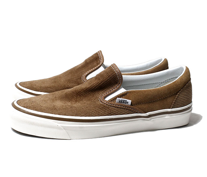 VANS バンズ 限定モデル ANAHEIM FACTORY COLLECTION ''OG HART BROWN/CORDUROY'' スリッポン UA CLASSIC SLIP-ON 98 DX 2018AW コーデュロイ (VN0A3JEXUM4-BRW-18AW)