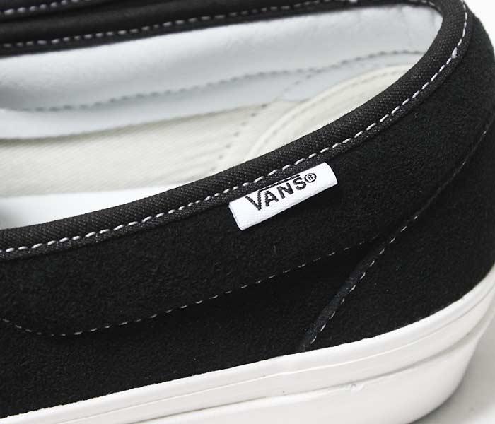 VANS バンズ 限定モデル ANAHEIM FACTORY COLLECTION ''OG BLACK/SUEDE'' ストラップ スリッポン UA SLIP-ON 47 V DX ブラック スウェード (VN0A3MVAUL1-BLACK)