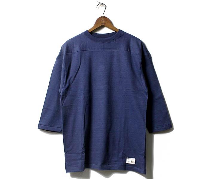 ウエアハウス/WAREHOUSE 日本製 フットボールT 7分袖Tシャツ (4063-FOOTBALL)