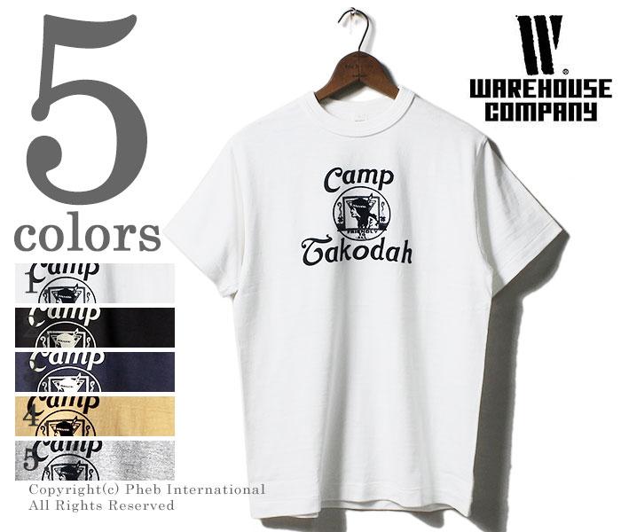 ウエアハウス/WAREHOUSE 日本製 CAMP TAKODAH プリントTシャツ (18SS-4601-MERCY)