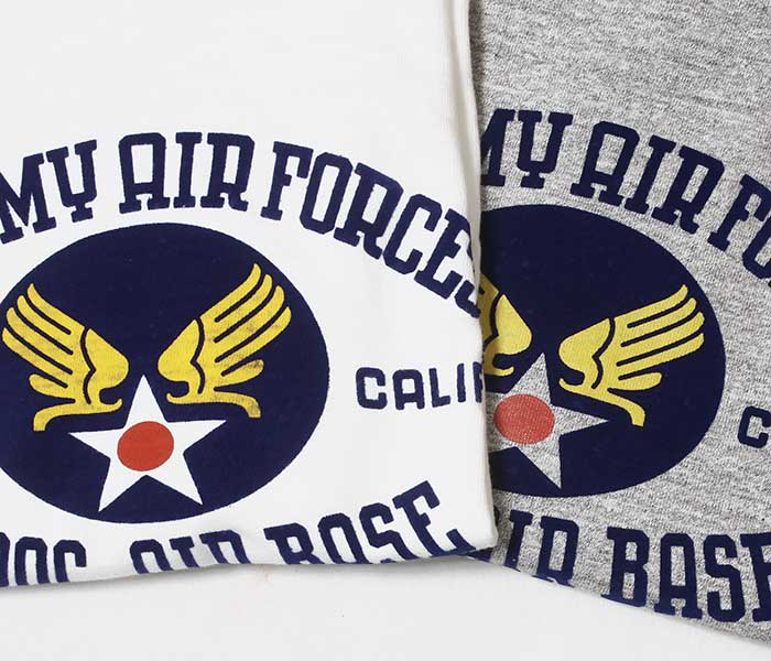 ウエアハウス WAREHOUSE MUROC AIR BASE Tシャツ プリントT MADE IN JAPAN (19SS-4601-MUROC-AIR-BASE)