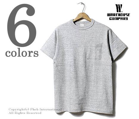 [メール便送料無料]ウエアハウス/WAREHOUSE 日本製 プレーン ポケットTシャツ ポケT (4601-POCKET-TEE)