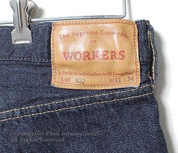 [送料無料]ワーカーズ/WORKERS 日本製 ''Lot802''スリムテーパードジーンズ・デニム(LOT802-SLIM-TAPERED-JEANS)
