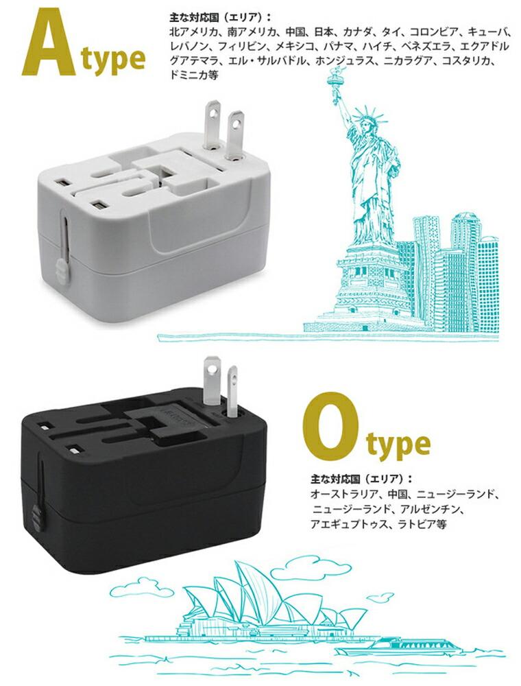 USB2ポート付き
