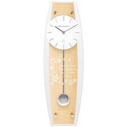 ペンデュラムクロック ビーチウッド (電波時計) (名入れ)