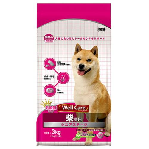 【訳あり】(ペット10倍)ドッグフード イースター 賞味期限:2019年9月ウェルケア 柴専用 シニアステージ 3kg (1kg×3袋入) (犬、いぬ、イヌ)(国産、ドライフード、柴犬)