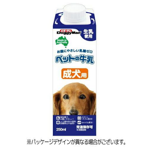 【訳あり】(ペット10倍)ドッグフード ドギーマン 賞味期限:2019年9月ペットの牛乳 成犬用 250ml(いぬ、犬、イヌ)(ミルク、ペットフード)