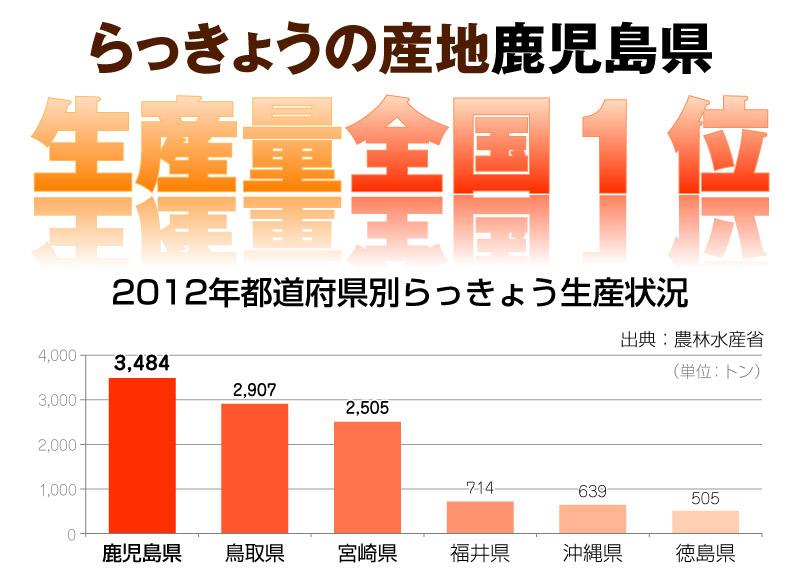 鹿児島県はらっきょうの生産量が全国1位!