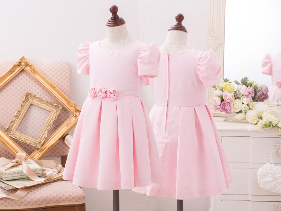 ベビー 子供 ドレス ピンク フラワーガール フォーマル ピアノ 発表会 ワンピース 女の子 結婚式 披露宴 子ども 衣装 キッズ