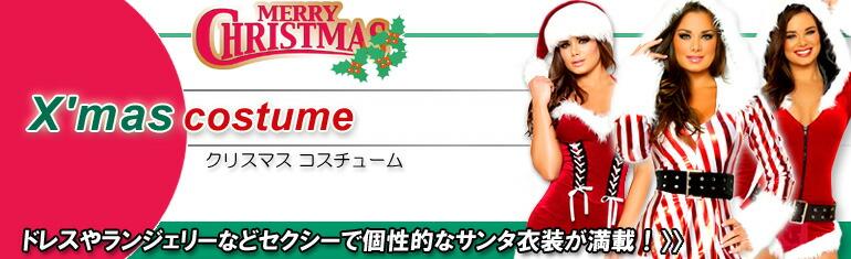 サンタのセクシーなコスプレ衣装 クリスマスのコスチューム